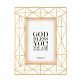 God Bless You!, Geometric Framed Art, Copper