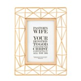 Pastor's Wife, Proverbs 31:25, Geometric Framed Art, Copper