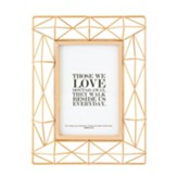 Those We Love Don't Go Away, In Memory, Matthew 6:21, Geometric Framed Art, Copper