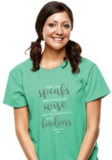 When She Speaks Shirt, Cool Mint, Large