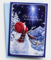 He Is Found By Those Who Seek Him, Snowman, Christmas Cards, Box of 18