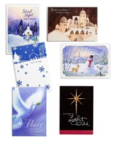 Religious Scenes Christmas Cards, Value Box of 48
