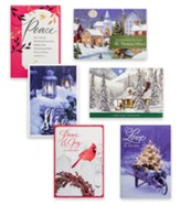 Traditional Scenes Christmas Cards, Value Box of 48