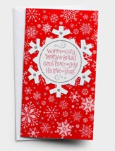 Warm And Cozy, Snowflake, Christmas Cards, Box of 16