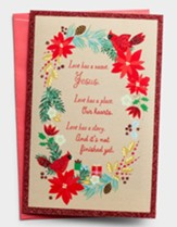 Love Has A Name, Jesus, Wreath Christmas Cards, Box of 18