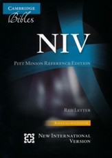 NIV Pitt Minion Reference Bible, Calf Split Leather, black - Imperfectly Imprinted Bibles