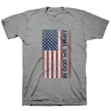 In God We Trust, Flag, Shirt, Grey, X-Large