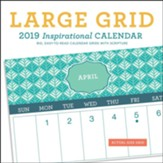 2019 Large Grid Patterns, Wall Calendar