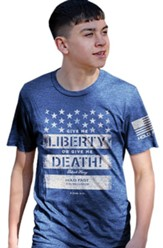 Give Me Liberty or Give Me Death Shirt, Royal Heather Blue, Large