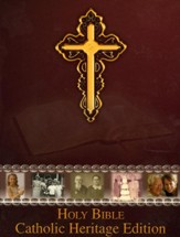 NABRE Catholic Heritage Edition, Burgundy Bonded Leather - Imperfectly Imprinted Bibles