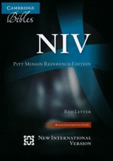 NIV Pitt Minion Reference Bible, Goatskin Leather, black - Imperfectly Imprinted Bibles