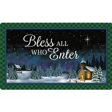 Bless All Who Enter Doormat