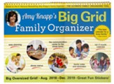 2019 Amy Knapp's Big Grid Family Organizer Wall Calendar