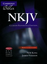 NKJV Clarion Reference Bible--calfskin leather, brown