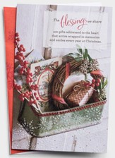 The Blessings We Share, Christmas Wreath, Christmas Cards, Box of 18