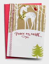 Peace on Earth, Deer, Christmas Cards, Box of 18