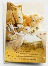 Love Came To A Stable, Manger Animals, Christmas Cards, Box of 18