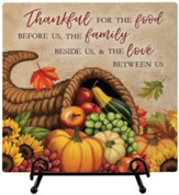 Thankful For the Food Easel Plaque