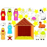 Make-A-Nativity-Scene Stickers, Pack of 12