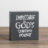 God's Starting Point Plaque