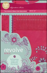 NCV Revolve Bible, Leathersoft, raspberry