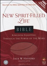 NLT New Spirit Filled Life Bible, Imit. Leather, Brick Red
