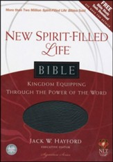 NLT New Spirit Filled Life Bible, Bonded Leather, black - Imperfectly Imprinted Bibles
