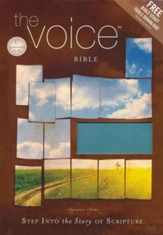 The Voice Bible: Step Into the Story of Scripture--soft leather-look, peacock blue