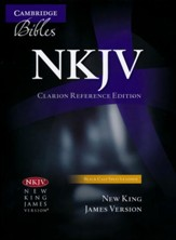 NKJV Clarion Reference Bible--calf split leather, black