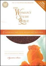 NIV The Woman's Study Bible--soft leather-look, auburn (indexed) - Imperfectly Imprinted Bibles