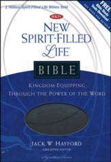 NKJV New Spirit Filled Life Bible, Leathersoft, charcoal-indexed - Slightly Imperfect
