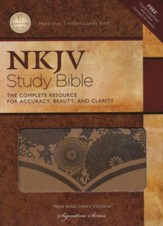 NKJV Study Bible, Second Edition--soft leather-look,  café au lait