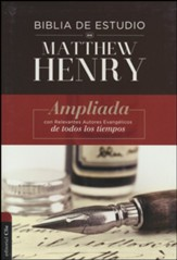 Biblia de estudio RVR Matthew Henry, tapa dura  (RVR Matthew Henry Study Bible, Hardcover) - Slightly Imperfect