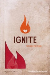 NKJV Ignite Teen Bible, Leathersoft,  watermelon pink