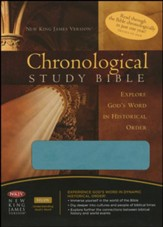 NKJV Chronological Study Bible, Leathersoft, peacock blue