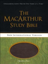 NIV MacArthur Study Bible Leathersoft Earth Brown & Brown Sugar Indexed
