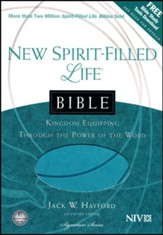 NIV New Spirit Filled Life Bible, Imitation leather, turquoise - Slightly Imperfect