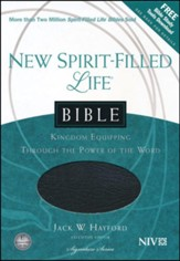 NIV New Spirit Filled Life Bible--bonded leather, black - Imperfectly Imprinted Bibles