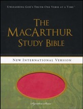 NIV MacArthur Study Bible Leathersoft, Sunset Pink