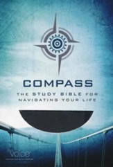 The Voice: Compass - The Study Bible for Navigating Your Life, Leathersoft, charcoal