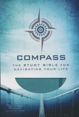 Compass- The Study Bible for Navigating Your Life, Leathersoft, peacock blue