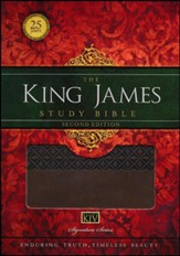 King James Study Bible, Second Edition, Leathersoft, Earth Brown--indexed - Imperfectly Imprinted Bibles