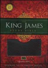 King James Study Bible, Second Edition, Bonded Leather, black--indexed - Slightly Imperfect