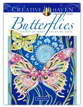Butterflies Flights of Fancy Coloring Book
