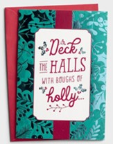 Deck the Halls With Boughs of Holly Christmas Cards, Box of 18