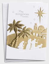 Thy Kingdom Come, 5 Panel Christmas Cards, Box of 18