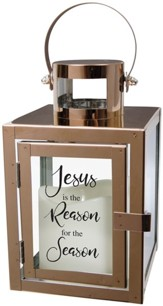 Jesus is the Reason for the Season LED Flameless Lantern