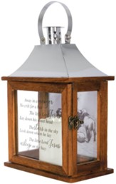 Away in a Manger LED Flameless Lantern