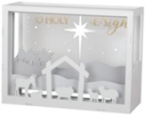 O Holy Night LED Shadow Box