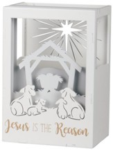 Jesus Is The Reason LED Shadow Box